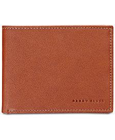 Perry Ellis Men's Smooth Leather Wallet & Corkscrew Keychain