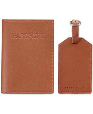Portfolio Passport Case and Luggage Tag Gift-Boxed Set