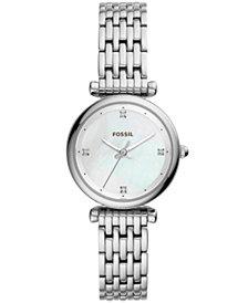 Fossil Women's Carlie Stainless Steel Bracelet Watch 29mm