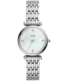Fossil Women's Carlie Stainless Steel Bracelet Watch 29mm