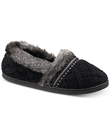 Isotoner Signature Trellis Tessa Sweater-Knit Slippers