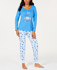 Matching Family Pajamas Women's Love You A Latke Pajama Set, Created for Macy's
