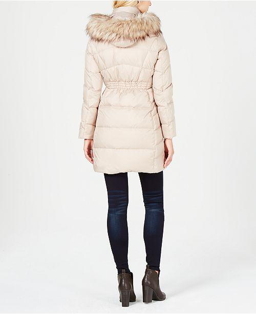 6ea2f1b19fb4e Calvin Klein Faux-Fur-Trim Puffer Coat   Reviews - Coats - Women ...