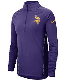 Nike Women's Minnesota Vikings Element Core Quarter-Zip Pullover