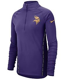 Nike Women's Minnesota Vikings Element Core Quarter-Zip Pullover