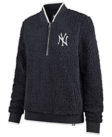 '47 Brand Women's New York Yankees Sherpa Quarter-Zip Pullover