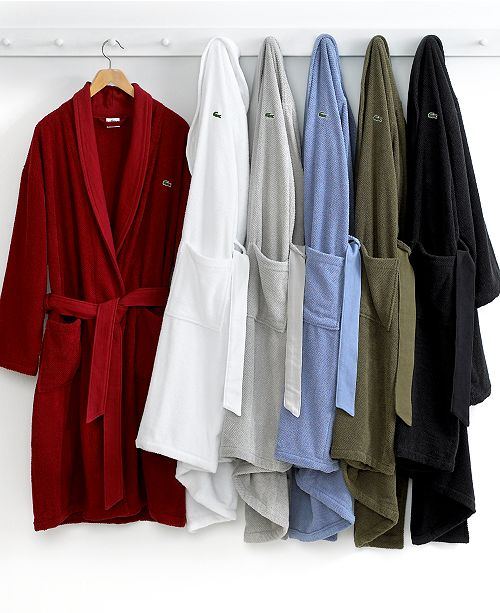 d826cfcbb8f Lacoste Home CLOSEOUT! Lacoste Men s Textured Bath Robe ...