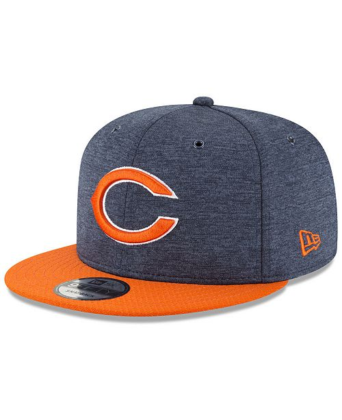New Era Chicago Bears On Field Sideline Home 9FIFTY Snapback Cap ... bcaec7618232