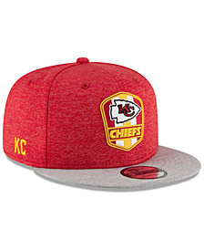 New Era Kansas City Chiefs On Field Sideline Road 9FIFTY Snapback Cap