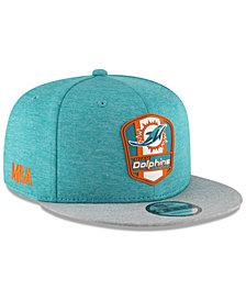 New Era Miami Dolphins On Field Sideline Road 9FIFTY Snapback Cap