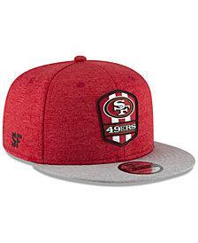 New Era San Francisco 49ers On Field Sideline Road 9FIFTY Snapback Cap ba99e20e1