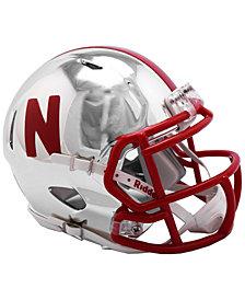 Riddell Nebraska Cornhuskers Speed Chrome Alt Mini Helmet