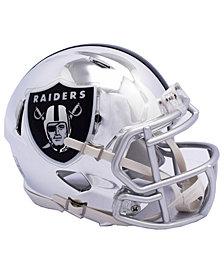 Riddell Oakland Raiders Speed Chrome Alt Mini Helmet