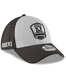 New Era Oakland Raiders On Field Sideline Road 39THIRTY Stretch Fitted Cap
