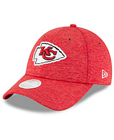 New Era Women's Kansas City Chiefs On Field Sideline Home 9FORTY Strapback Cap