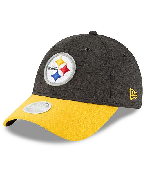 e585be65db78d7 ... Strapback Cap; New Era Women's Pittsburgh Steelers On Field Sideline  Home 9FORTY Strapback ...