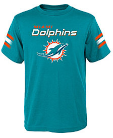 Outerstuff Miami Dolphins Goal Line T-Shirt, Big Boys (8-20)