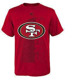 Outerstuff San Francisco 49ers Poly Jump Speed T-Shirt, Big Boys (8-20)