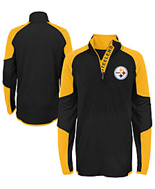 Outerstuff Pittsburgh Steelers Beta Quarter-Zip Top, Big Boys (8-20)