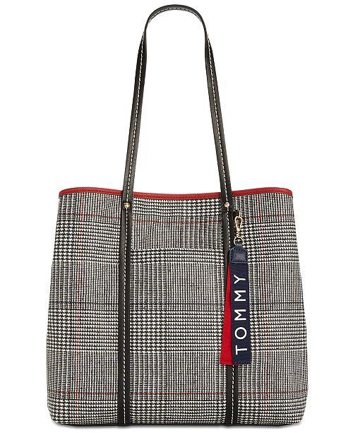 48a9f5dd90 Tommy Hilfiger Roma Plaid North South Tote   Reviews - Handbags ...