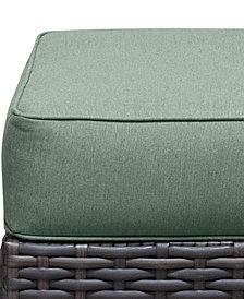 Viewport Outdoor Wicker Ottoman Replacement Sunbrella® Cushion, Quick Ship