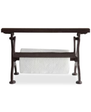 Image of Cast Iron and Wood Paper Towel Holder