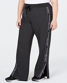 Calvin Klein Performance Plus Size Vented Fleece Pants