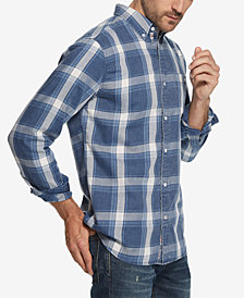 Weatherproof Vintage Men's Burnout Plaid Flannel Shirt