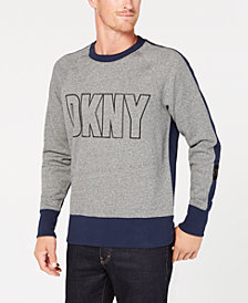 DKNY Men's Colorblocked Logo-Print Fleece Sweatshirt
