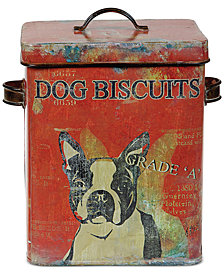 Tin Dog Biscuit Container