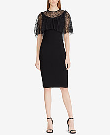 Lauren Ralph Lauren Lace-Overlay Dress