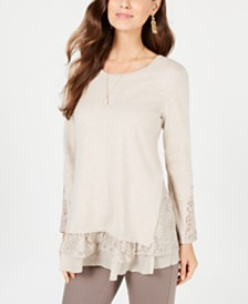 Style & Co Layered-Look Tunic, Created for Macy's