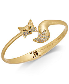 kate spade new york Gold-Tone Pavé Fox Cuff Bracelet