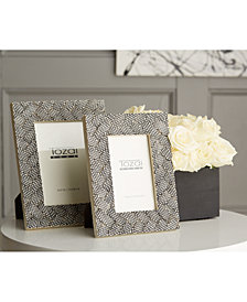 Woven Set of 2 Grey Photo Frames Includes 2 Sizes
