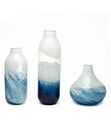Sea Scape Set of 3 Vases