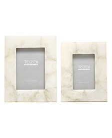 White Quartz Frames, Set of 2