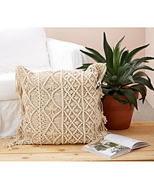 Large Macrame  Pillow