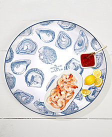 The World is Your Oyster Tray with Oyster Pattern