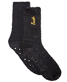 Planet Sox 2-Pk. Mickey Mouse Gold Standard Plush Socks