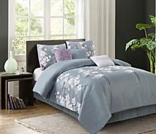 Isabel Grey 7-piece Comforter Sets