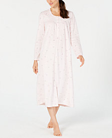Charter Club Printed Thermal Fleece Nightgown, Created for Macy's