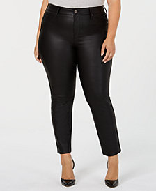 Seven7 Jeans Trendy Plus Size Ponté-Knit Signature Coated Skinny Jeans