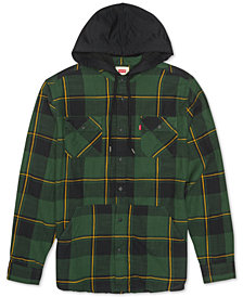Levi's® Men's Prince Hooded Plaid Shirt