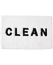 "DKNY Chatter Cotton 21"" x 34"" Embroidered Bath Rug"