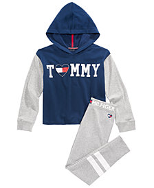 Tommy Hilfiger Big Girls Colorblocked Hoodie & Football Stripe Sweatpants