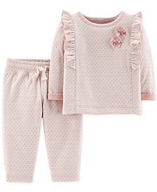 Carter's Baby Girls 2-Pc. Dot-Print Set