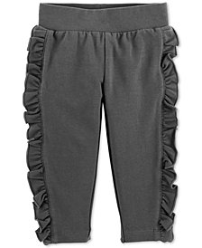 Carter's Baby Girls Side-Ruffle Joggers