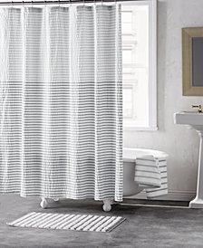 "DKNY Parsons Cotton Colorblocked Stripe 72"" x 72"" Shower Curtain"