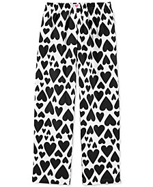 Carter's Big Girls Heart-Print Fleece Pajama Pants