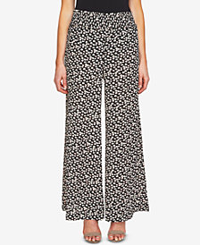 CeCe Printed Wide-Leg Pants
